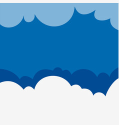 background design with fluffy clouds on blue sky vector image vector image