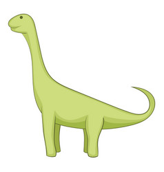Brachiosaurus icon cartoon style vector