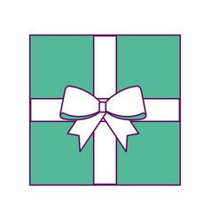 christmas gift present box wrapped ribbon bow vector image vector image