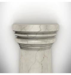 column isolated on white wall vector image vector image