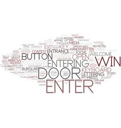 enter word cloud concept vector image