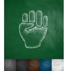 Fist icon vector