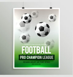 Football pro championship league flyer template vector