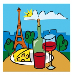 French wine vector