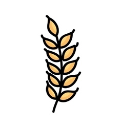 gluten leaf isolated icon design vector image vector image