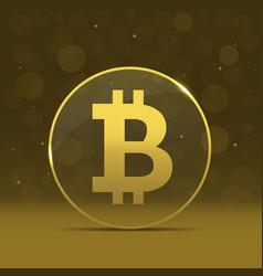golden bitcoin icon vector image