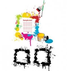 grunge paint splatter vector image vector image