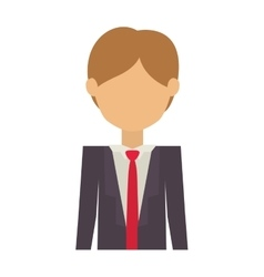 Half body man with elegant suit without face vector