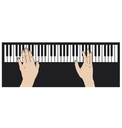 Hands playing piano vector