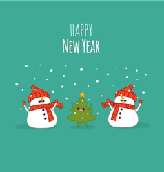 Happy newyear card vector