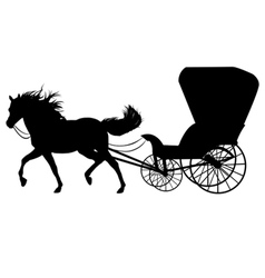 Horse with carriage vector