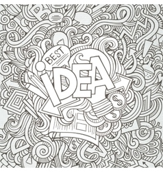 Idea hand lettering and doodles elements vector