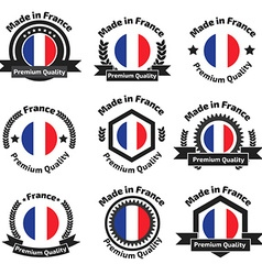 Made in Fance badge set vector image