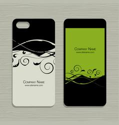 mobile phone design floral background vector image vector image