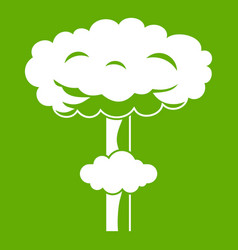 Nuclear explosion icon green vector