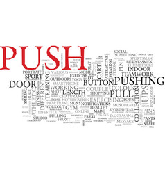 Push word cloud concept vector