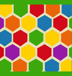 Retro geometric hexagon pattern vector