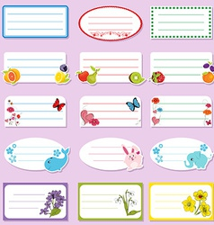 School labels vector image vector image