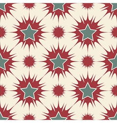 Stars seamless pattern retro vector image vector image