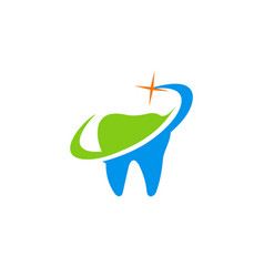tooth medic abstract logo vector image vector image