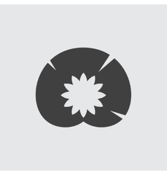 Water lily icon vector