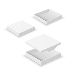 White square flat empty 3d boxes isolated vector