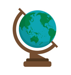 globe map school design shadow vector image