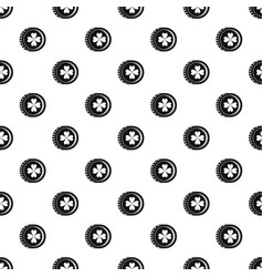 coin with clover sign pattern vector image