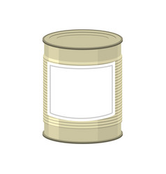 Cans isolated tin bank on white background vector