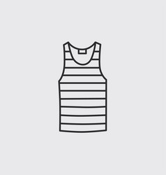 Blank singlet template - front and back vector