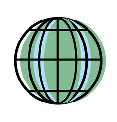 Global earth planet to geography exploration vector