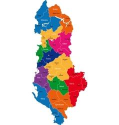Albania map vector