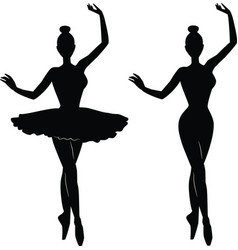 woman ballet dancer silhouette vector image