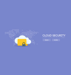 Cloud security banner concept vector