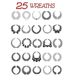 Laurel wreath icons set vector