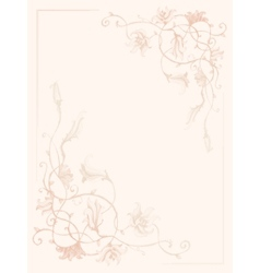Vintage flower ink pattern vector