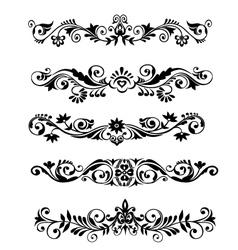 Floral patern borders and frames vector