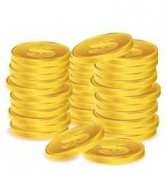 Dollar coins vector