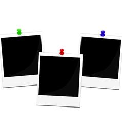 Polaroid frames set vector