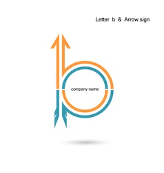 Creative letter b icon abstract logo design vector
