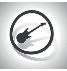 Guitar sign sticker curved vector