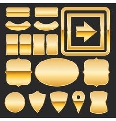 Gold elements vector