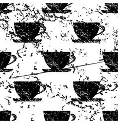 Cup pattern grunge monochrome vector