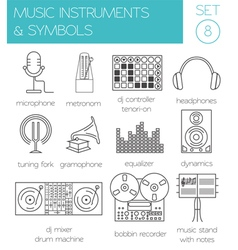 Musical instruments symbols graphic template vector