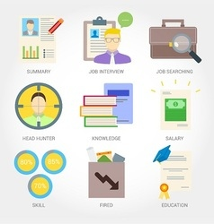 Job searching flat design icon vector