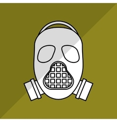 Military mask design vector