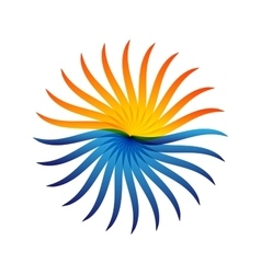 Logo sun and sea vector