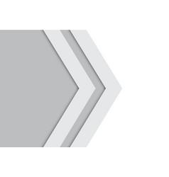 abstract double gray arrow design modern future vector image vector image