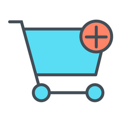 add items to shopping cart thin line icon 48x48 vector image vector image
