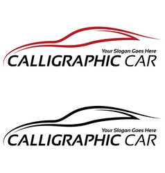 Calligraphic car logos vector image
